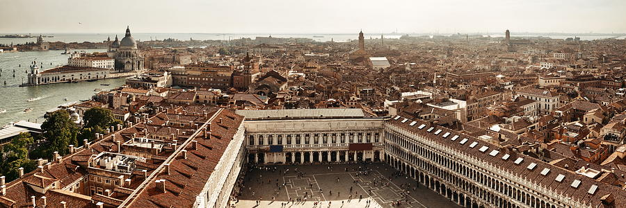 Piazza San Marco bell tower panorama view by Songquan Deng