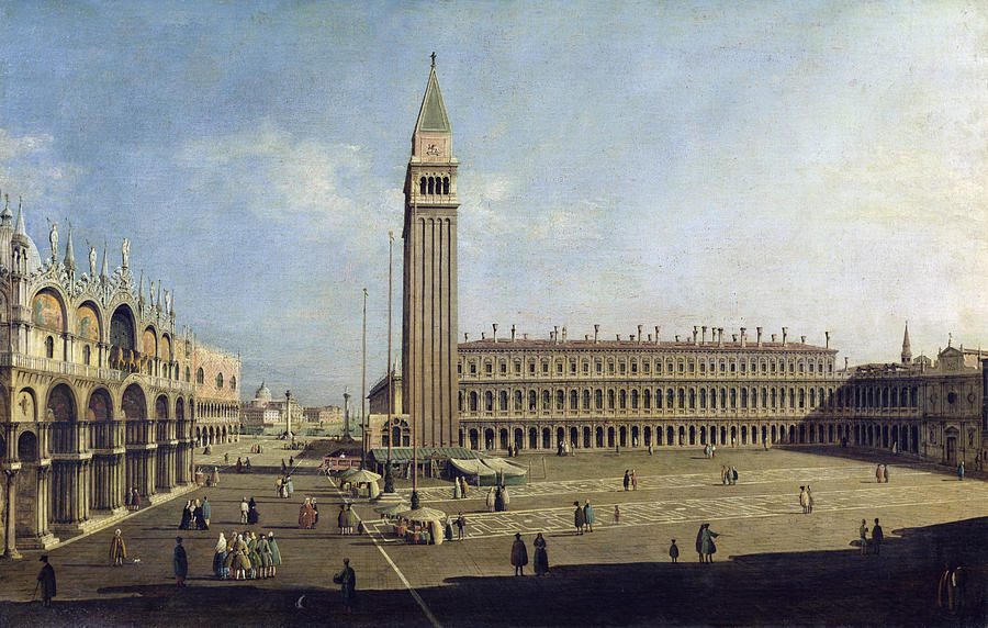 Piazza Painting - Piazza San Marco Venice  by Canaletto