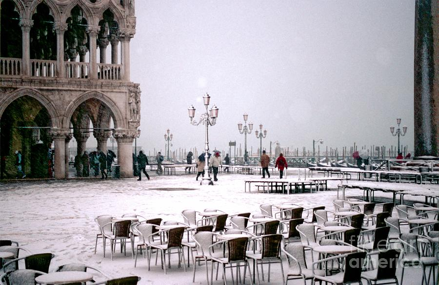 Venice Photograph - Piazzetta San Marco In Venice In The Snow by Michael Henderson