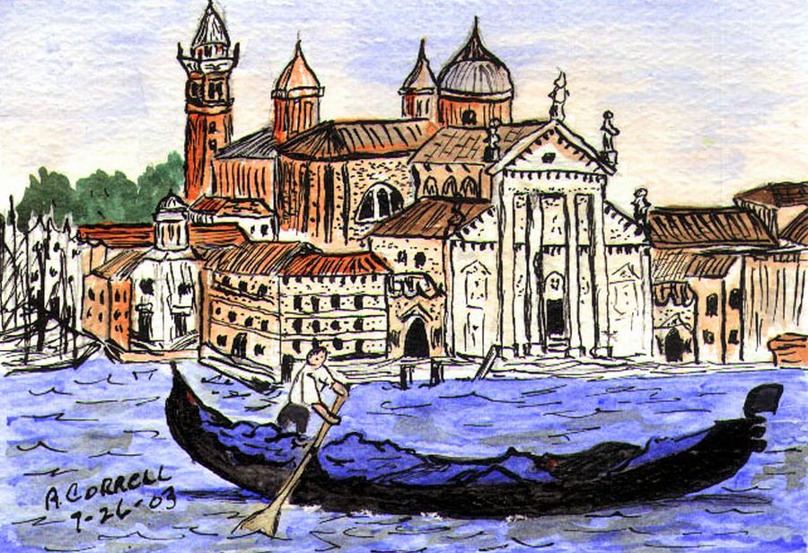 Piazzo San Marco Painting - Piazzo San Marco Venice Italy by Arlene  Wright-Correll