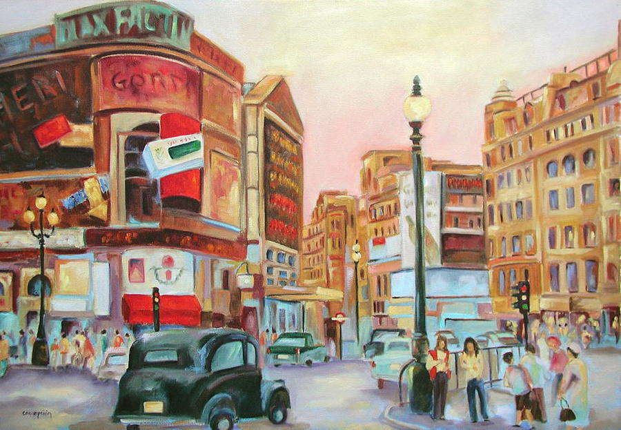 Cityscape Painting - Picadilly  by Ginger Concepcion