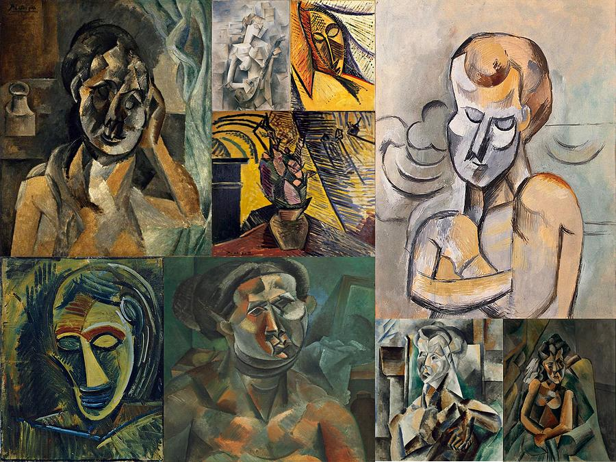 picasso collage 1 painting by movie poster prints