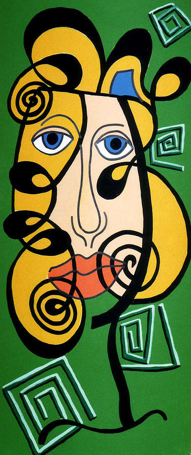 Picasso Influence Painting by Catt Kyriacou