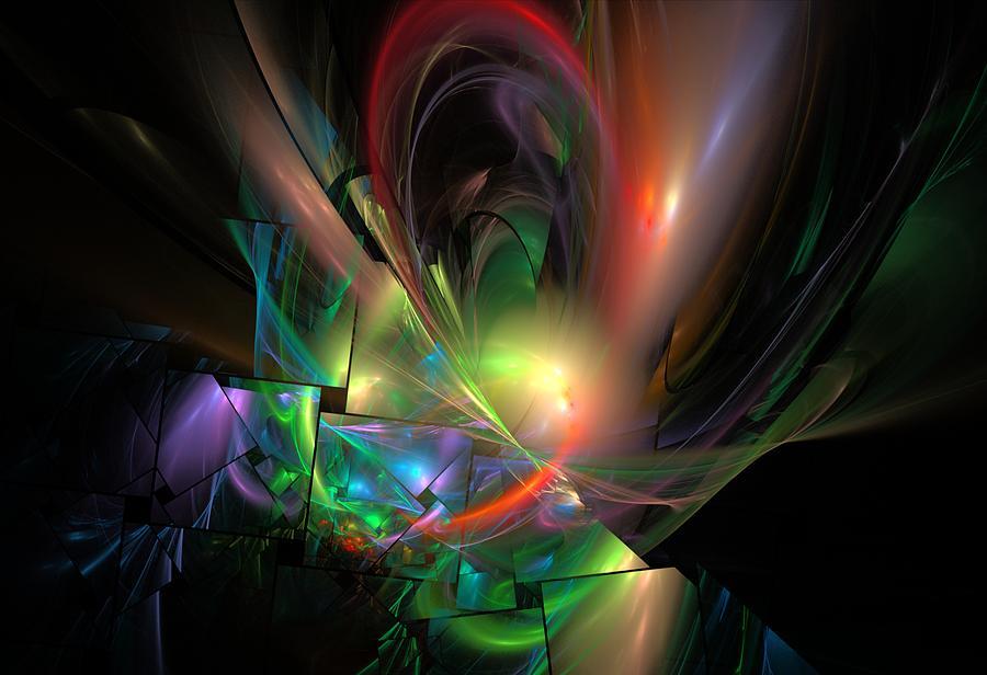 Fantasy Digital Art - Picassoractal by David Lane