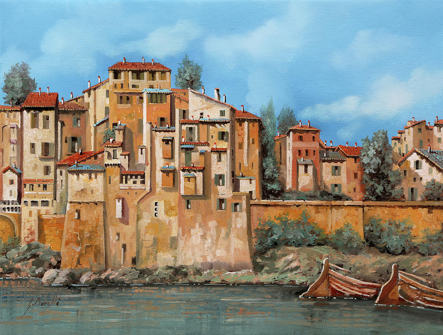 Piccole Case Sul Fiume Painting