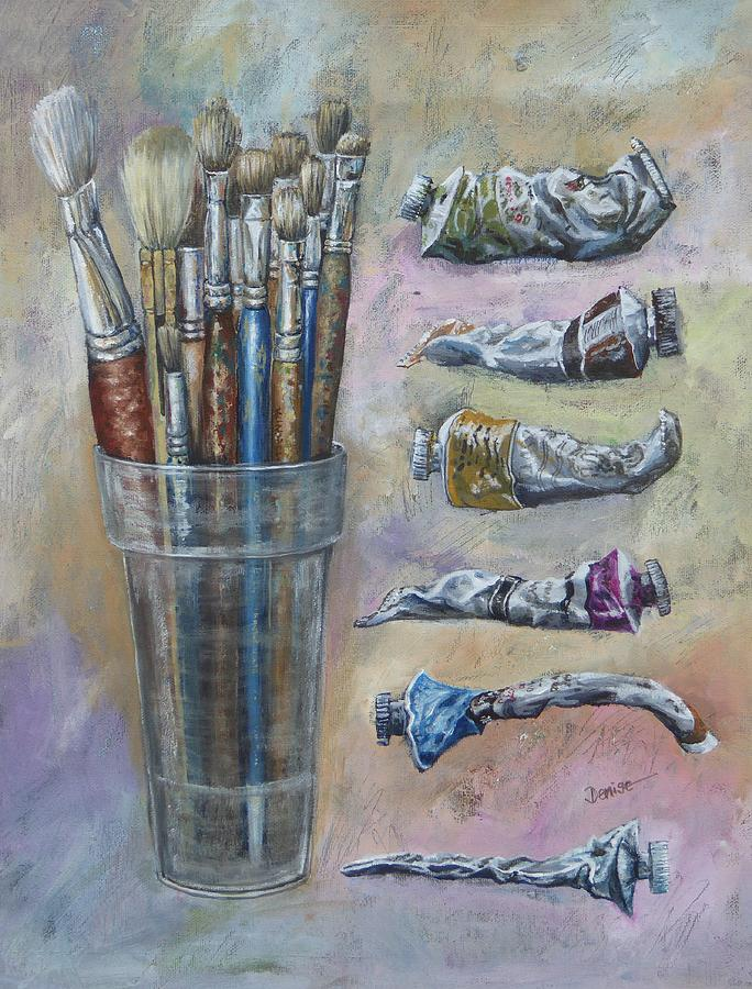 Brushes Painting - Pick And Mix by Denise Allen