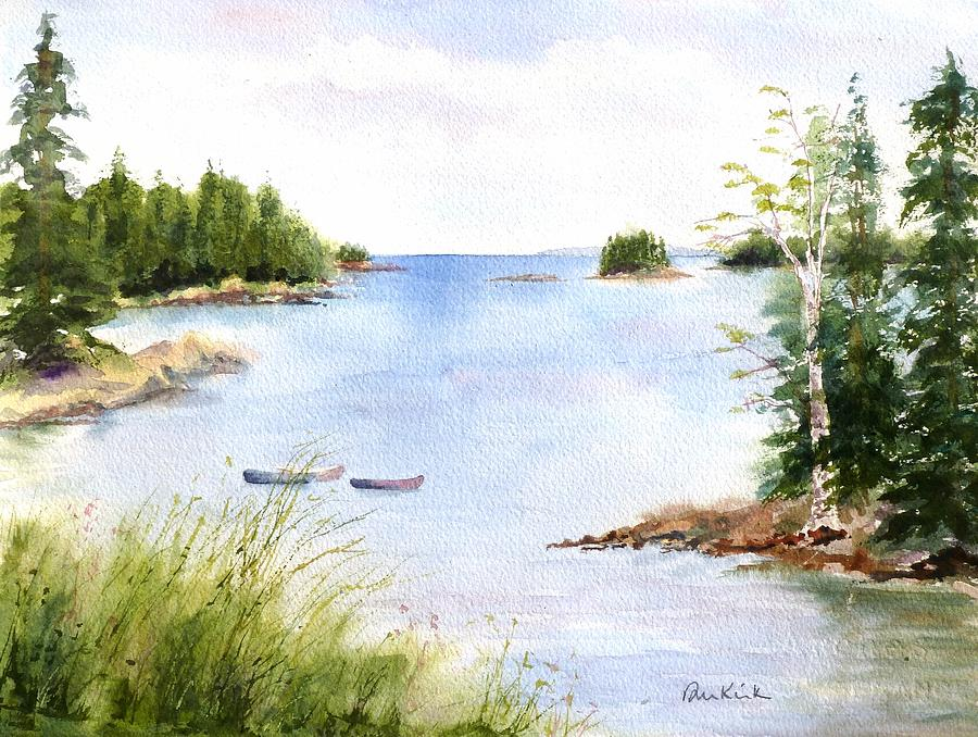 Maine Painting - Pickering Cove by Diane Kirk