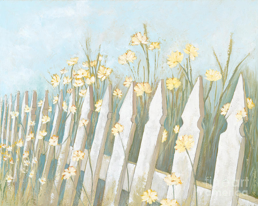 Picket Fence Painting By Priscilla Jo