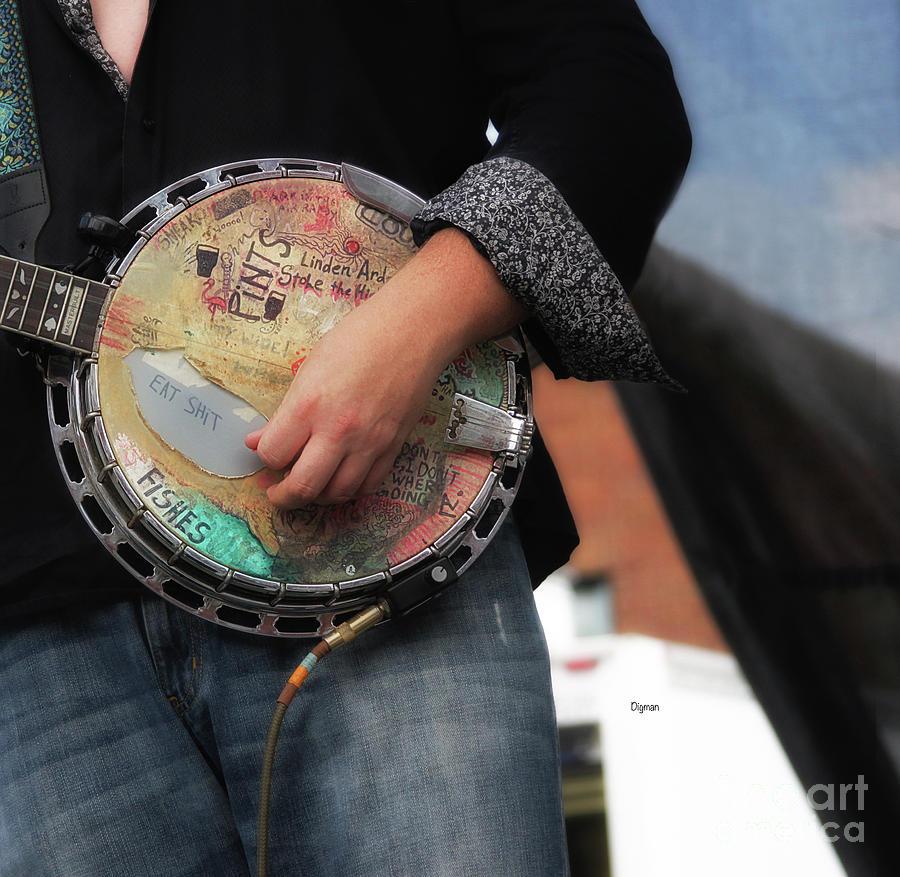 Banjo Photograph - Pickin Graffiti  by Steven Digman
