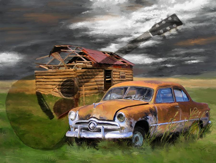 Digital Painting Painting - Pickin Out Yesterday by Susan Kinney