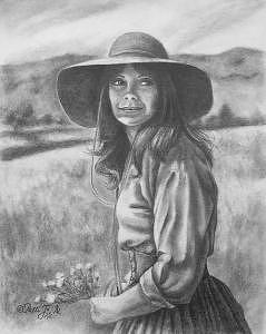 Western Drawing - Pickin Posies by Patti  Jo