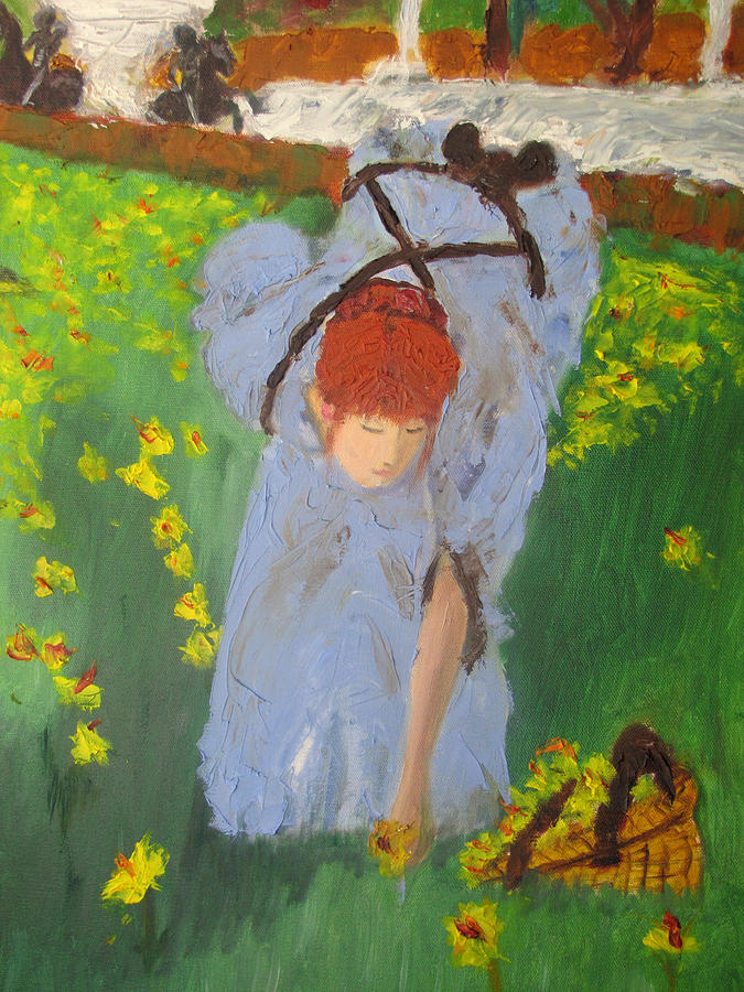 Picking Flowers Painting by Jenell Richards