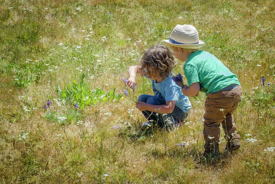 Picking Wildflowers 2 by Rick Mosher