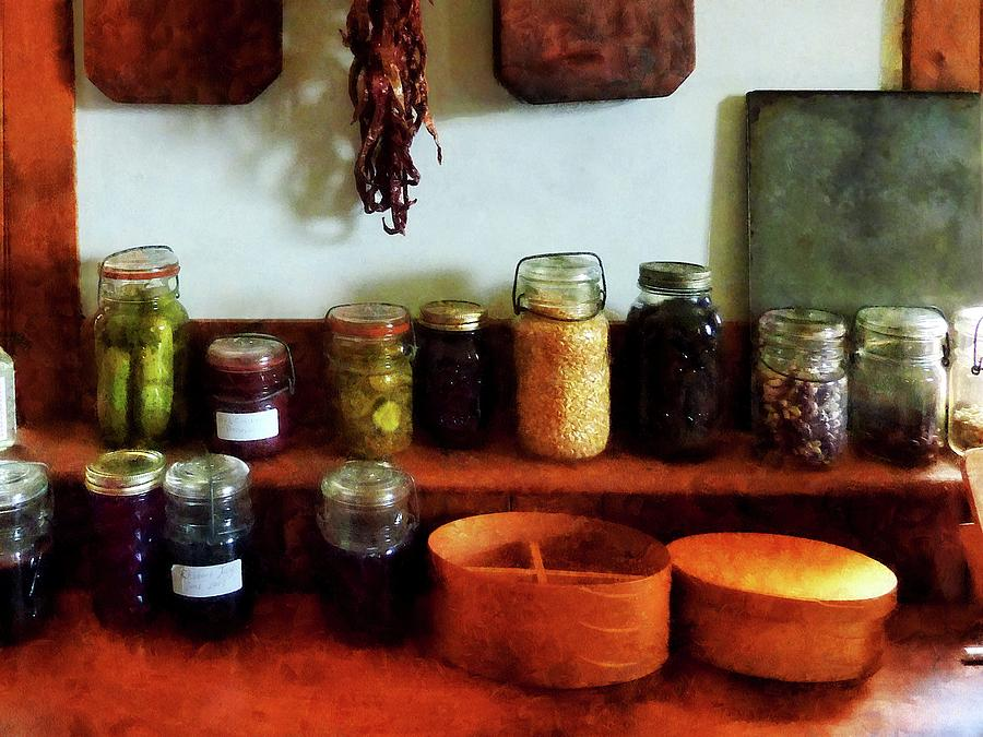 Corn Photograph - Pickles Beans And Jellies by Susan Savad