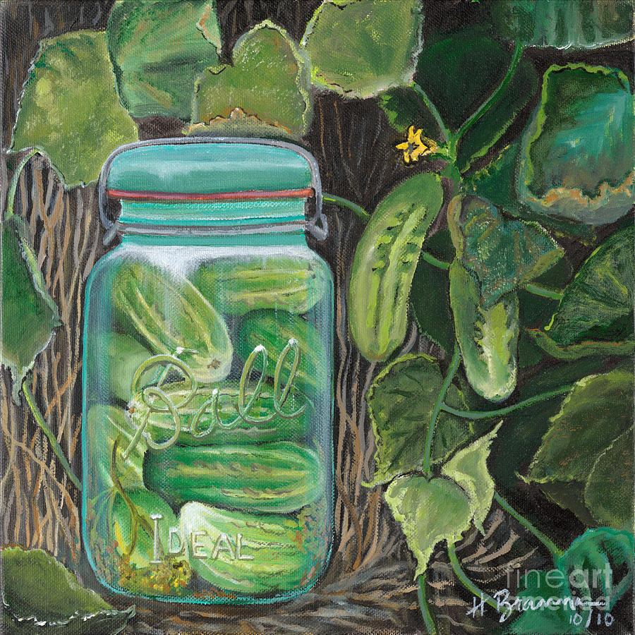 Pickles Painting by Holly Bartlett Brannan