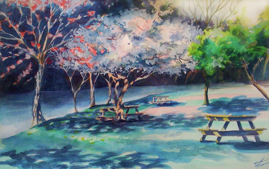 Picnic Painting - Picnic Area by Julie Morrison