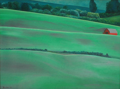 Hillside Painting - Picnic On A Hill by Blaine Filthaut