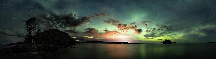Artistic Photograph - Picnic Point Aurora 180 degree Pano, May 28, 2017 by Jakub Sisak