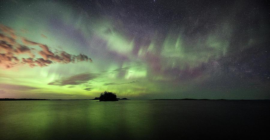 Artistic Photograph - Picnic Point Aurora Pano, May 28, 2017 by Jakub Sisak