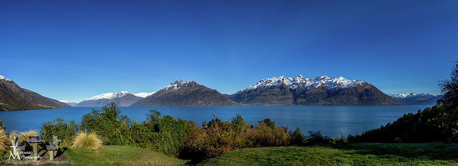 Queenstown Photograph - Picnic Table With A View by Tim Maynard