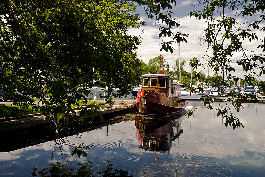 Boats Photograph - Picton Harbor Ontario by Mark Emmerson