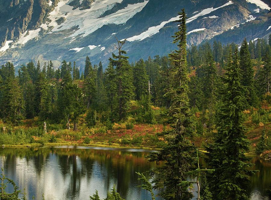 Mount Shuksan Photograph - Picture Lake Vista by Mike Reid