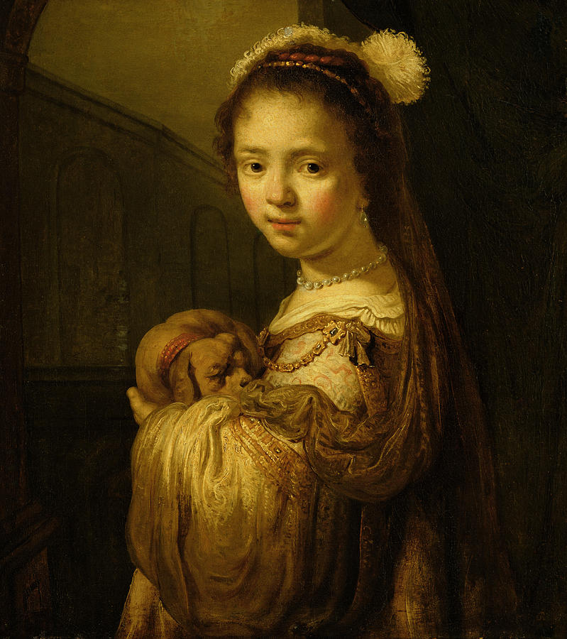 Picture Painting - Picture Of A Young Girl by Govaert Flinck