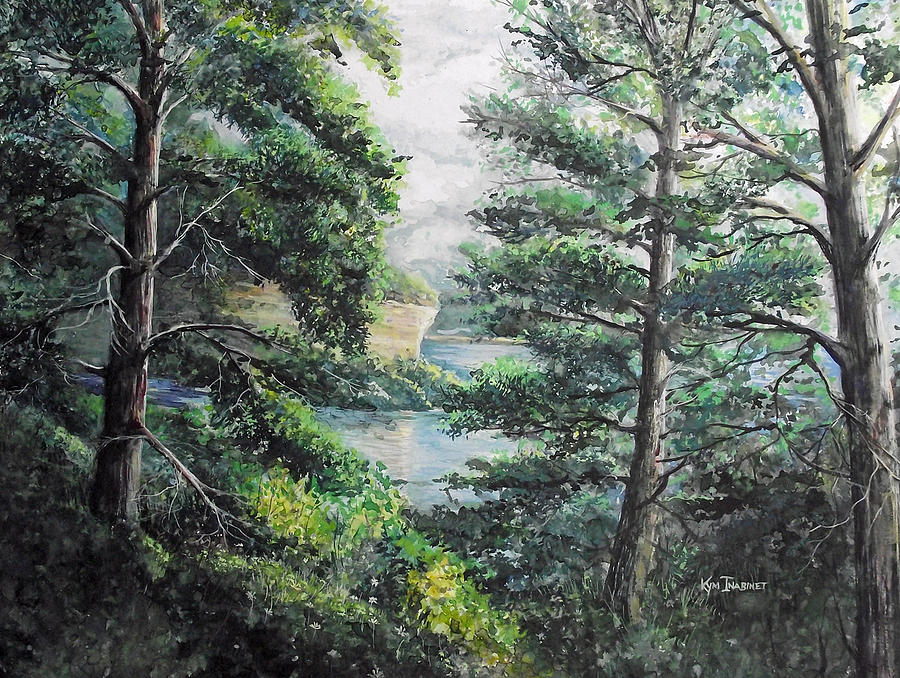 Landscape Painting - Pictured Rocks National Lakeshore by Kym Inabinet