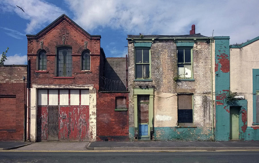 Old Houses Photograph - Picturesque Derelict Houses In Hull England by Philip Openshaw
