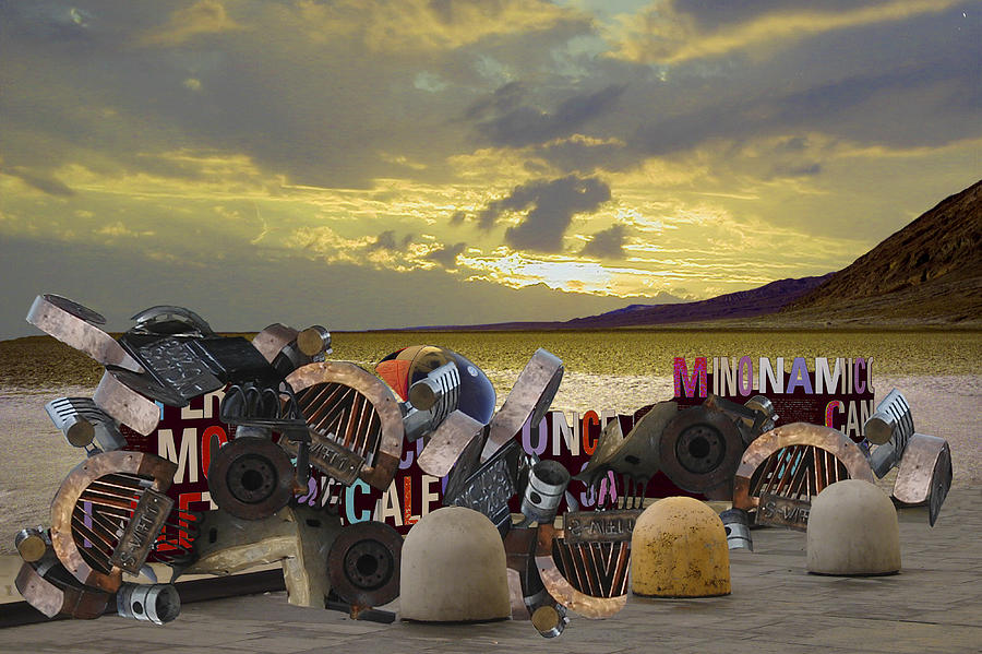 Surreal Landscape Digital Art - Picturesque Junk Yard by Helga Schmitt