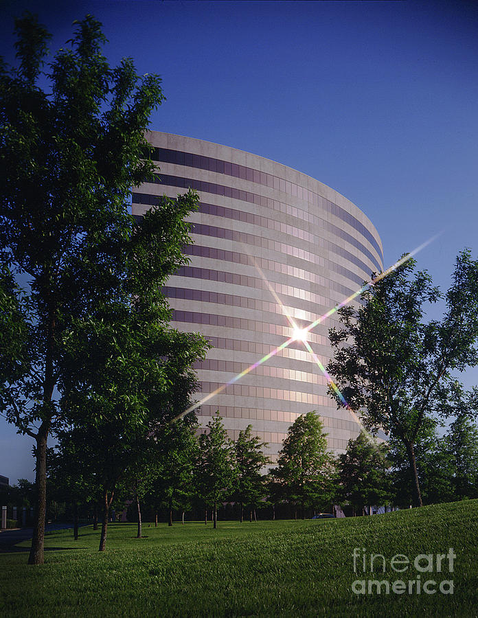 Exterior Photograph - Corporate Woods Pie Building by Gary Gingrich Galleries