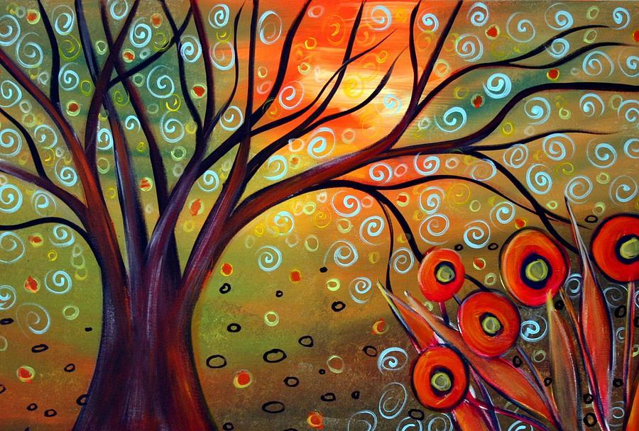 Landscape Painting - Piece Of Eden by Luiza Vizoli