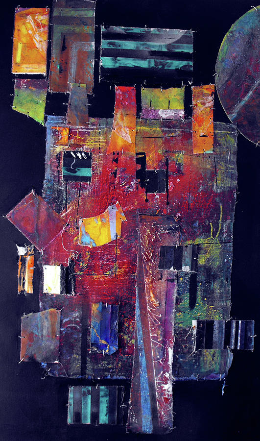 Mixed Media Painting - Pieces II by Ralph Levesque