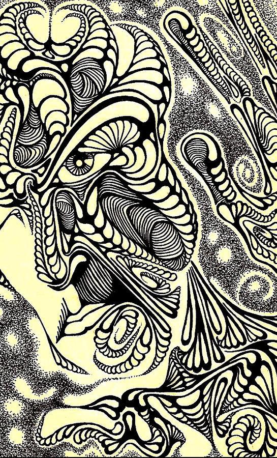 Pieces Drawing by Jeff DOttavio