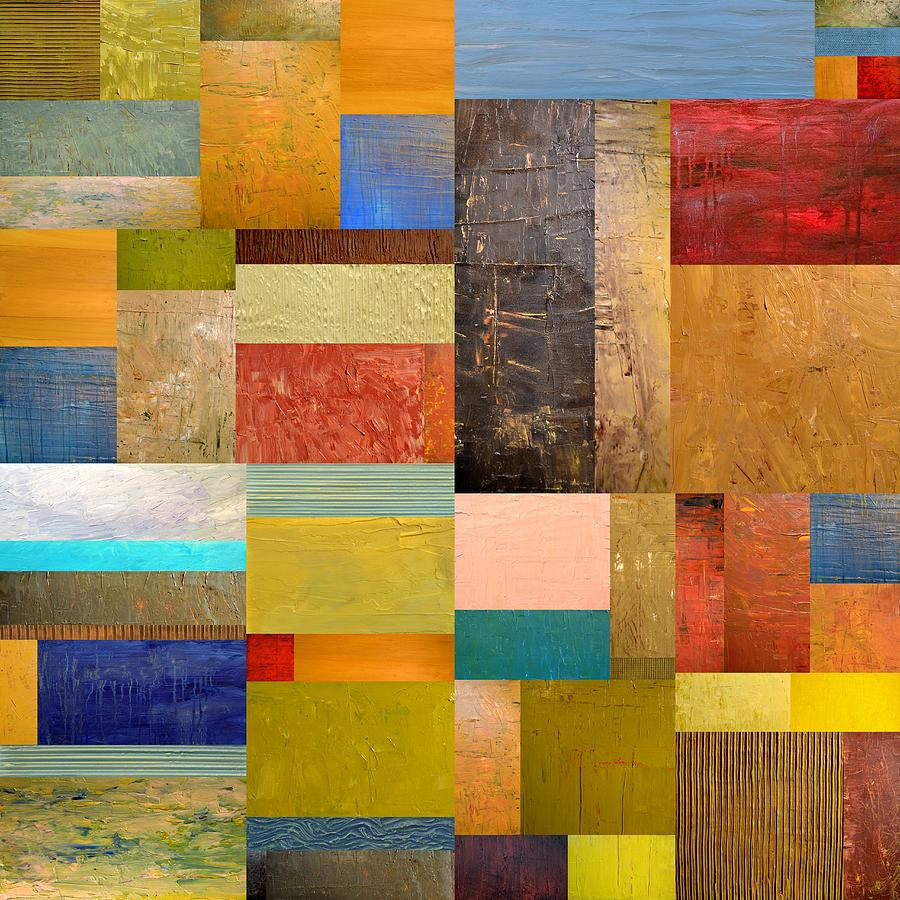 Textured Painting - Pieces Project Lll by Michelle Calkins