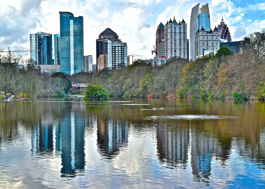 Piedmont Park Pond Reflecting Atlanta