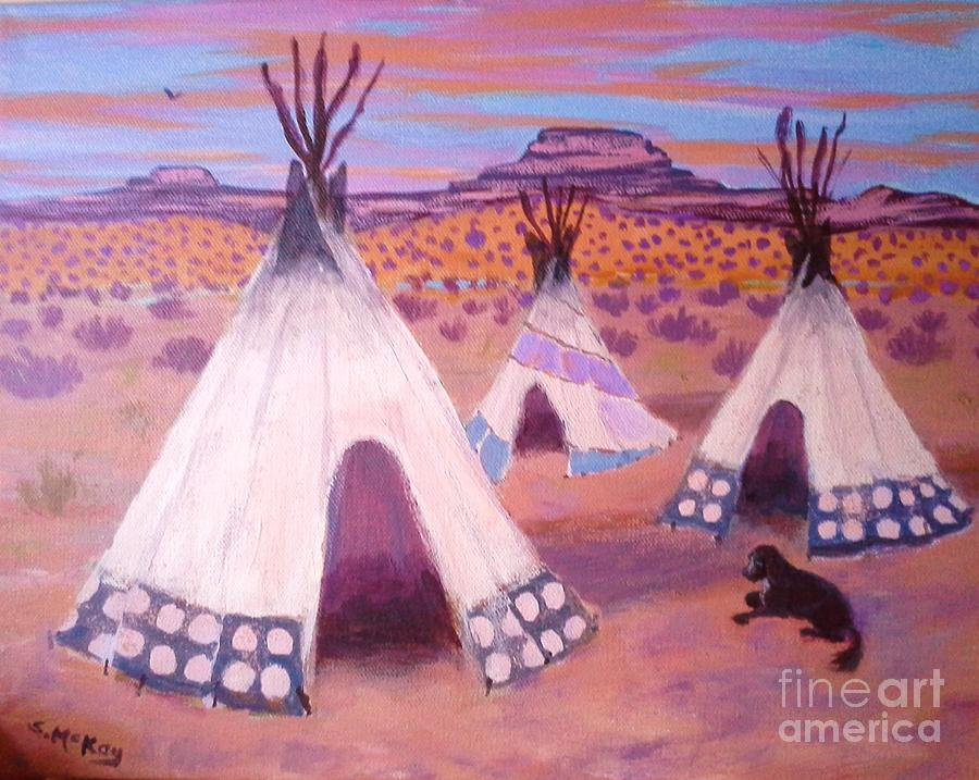 Piegan Indian Tipis by Suzanne McKay