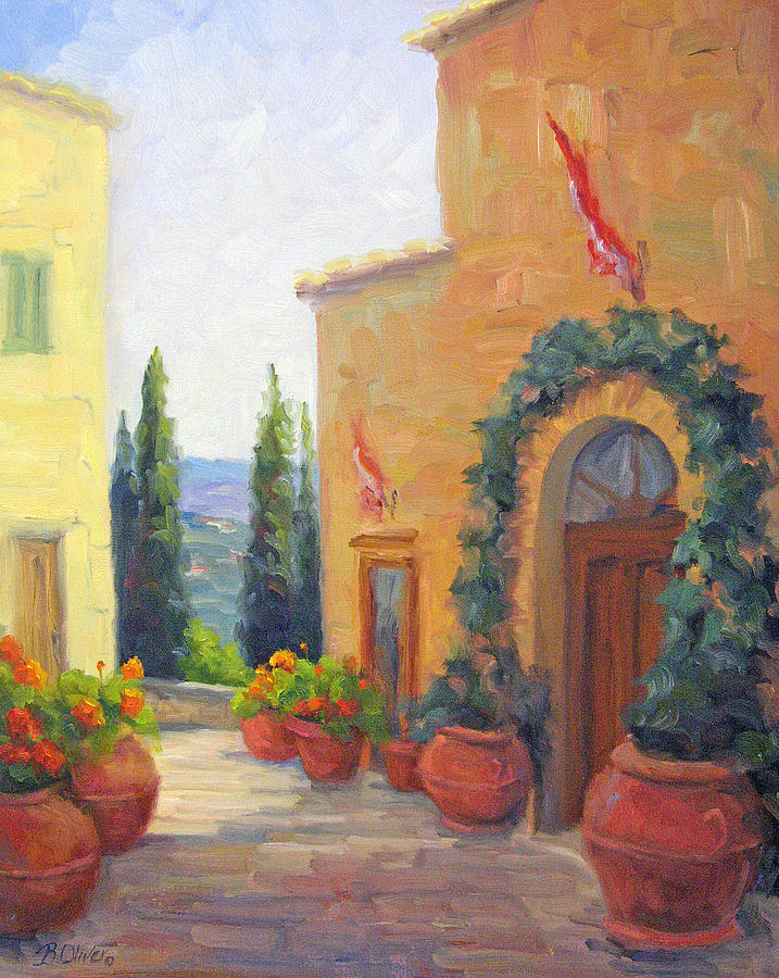 Italy Painting - Pienza Passage by Bunny Oliver