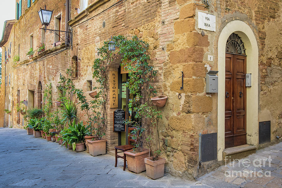 Pienza Street Corner by Jennifer Ludlum