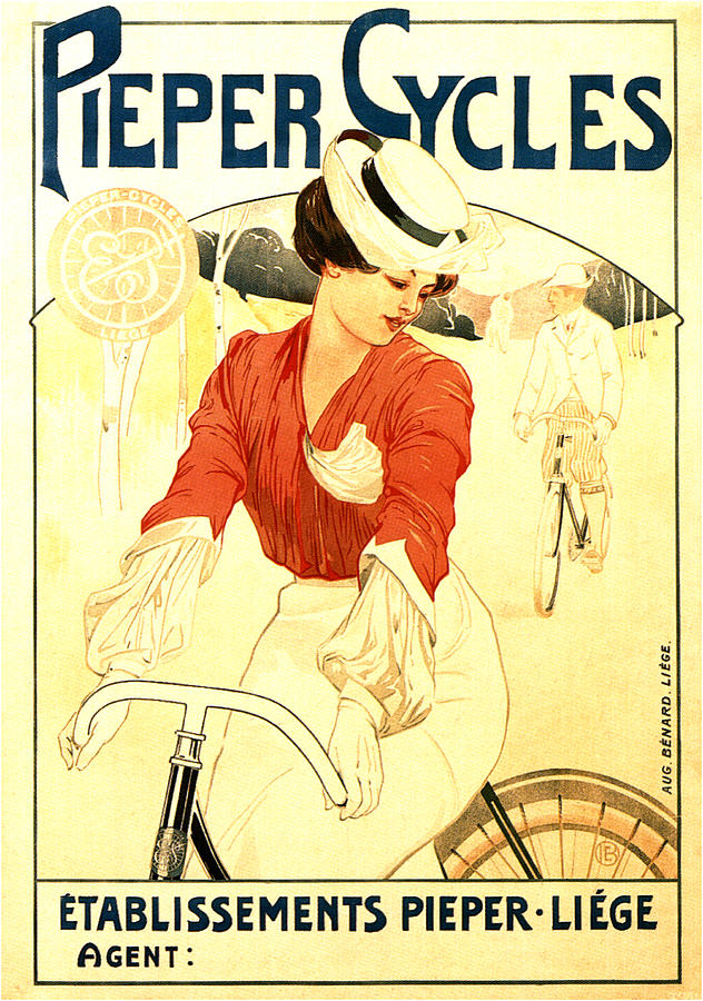 Pieper Cycles - Bicycle - Vintage Advertising Poster Mixed Media