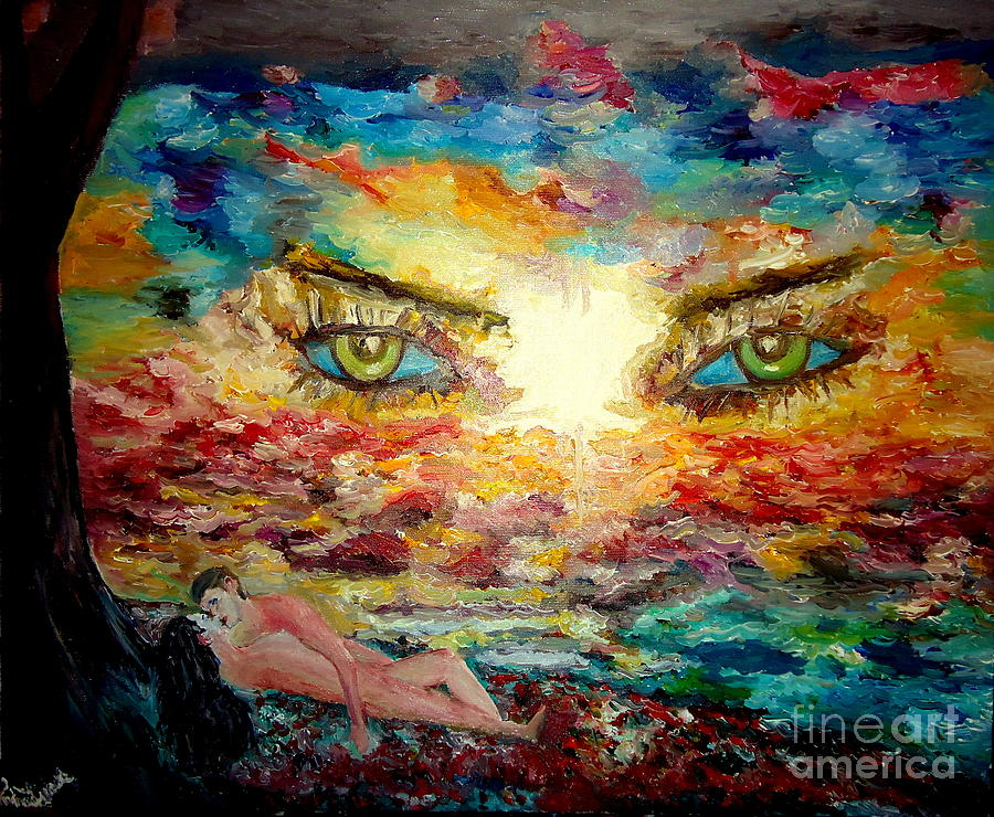 Angel Painting - Piequal3because14 by Edward Lighthouse