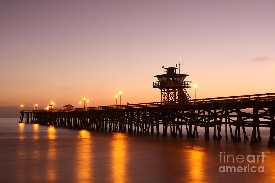 Water Photograph - Pier - Peaceful by Lindsay Felty