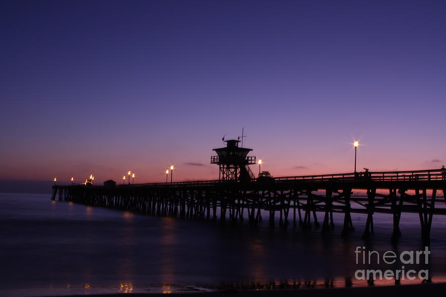 Water Photograph - Pier - Relaxing by Lindsay Felty