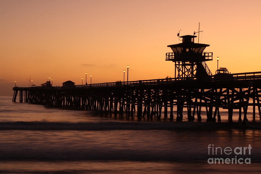 Water Photograph - Pier - Soothing by Lindsay Felty