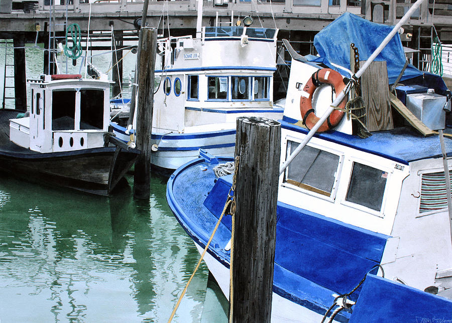 Boats Painting - Pier 39 by Denny Bond