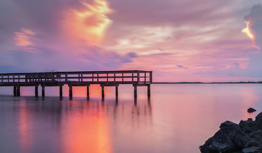 Sunset Photograph - Pier At Dunedin by Todd Rogers