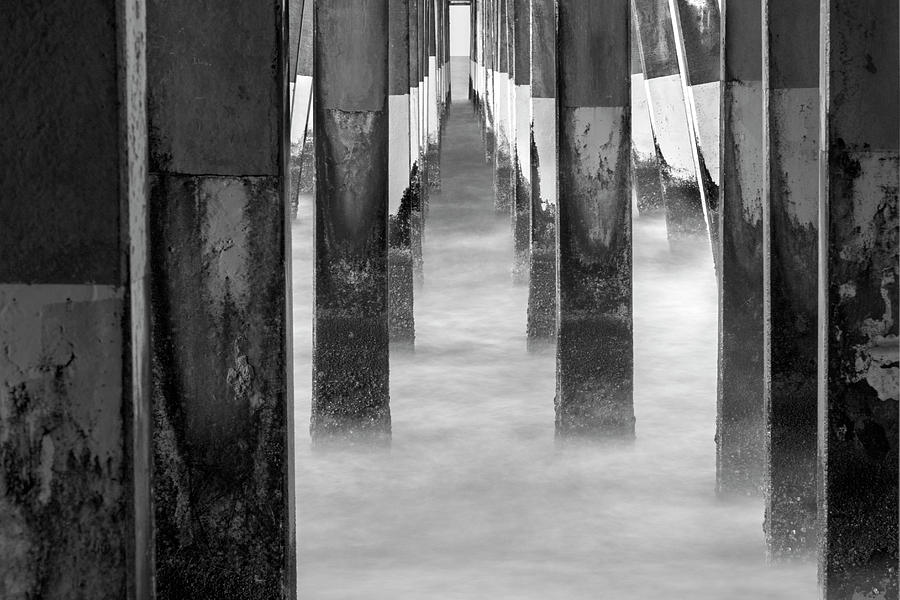 Pier At High Tide Photograph by Travis Baker