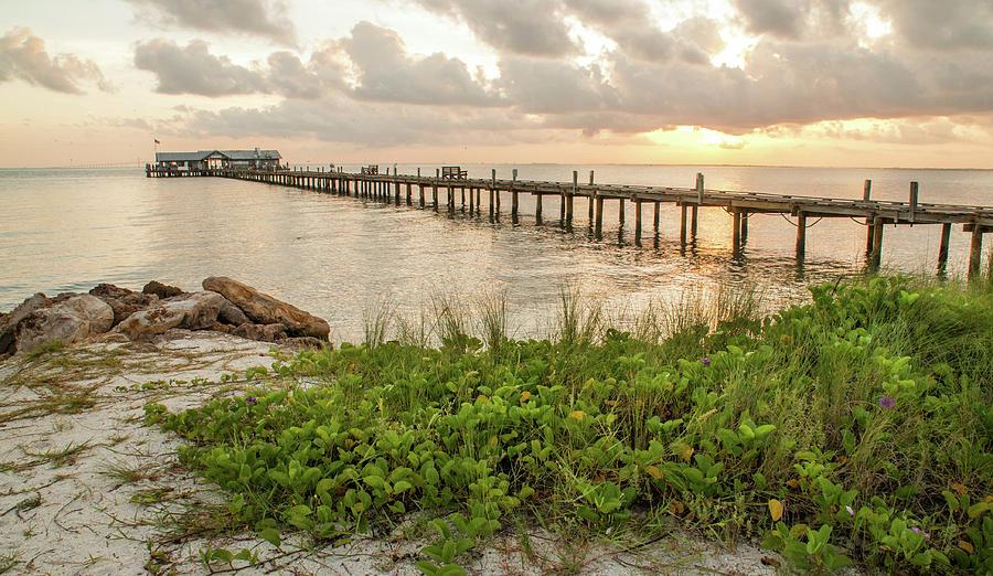 Pier at Sunrise by Geraldine Alexander