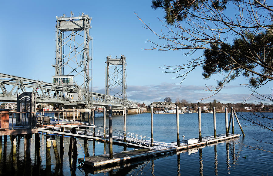 Pier II at Memorial Bridge - Portsmouth, NH by Betty Denise