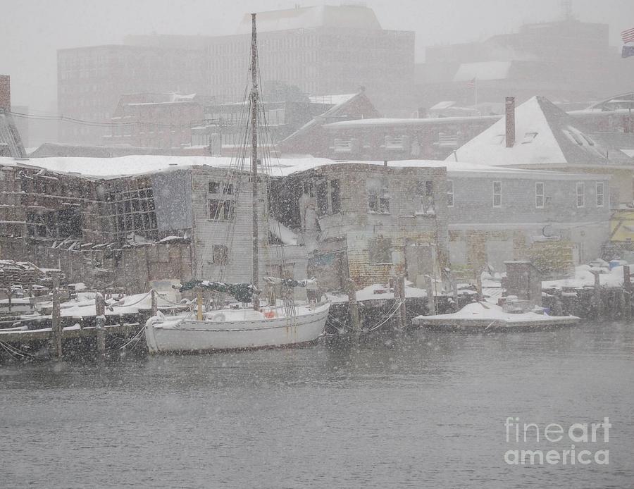 Sail Photograph - Pier In Disrepair by Faith Harron Boudreau